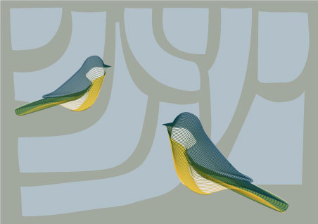 2 birds, blend